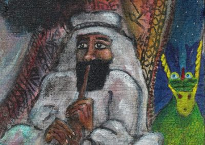 Darwood and the Shawm player (detail)